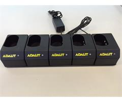 C5000 Adalit C.5000 Charger f/5 Torches 12vDC and 100-240vAC for Adalit Torch IL.300 & L-3000 series