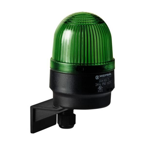 204.200.75 Werma  LED Beacon 204 24vDC 4:GREEN Permanent IP65 Bracket Mounting
