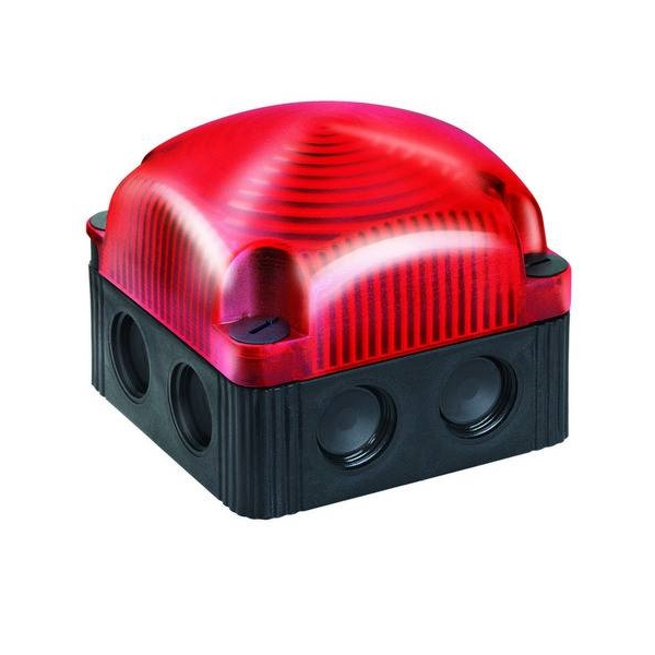 853.100.66 Werma  LED Beacon 853  48vAC 1:RED Permanent IP66/67 Base Mount