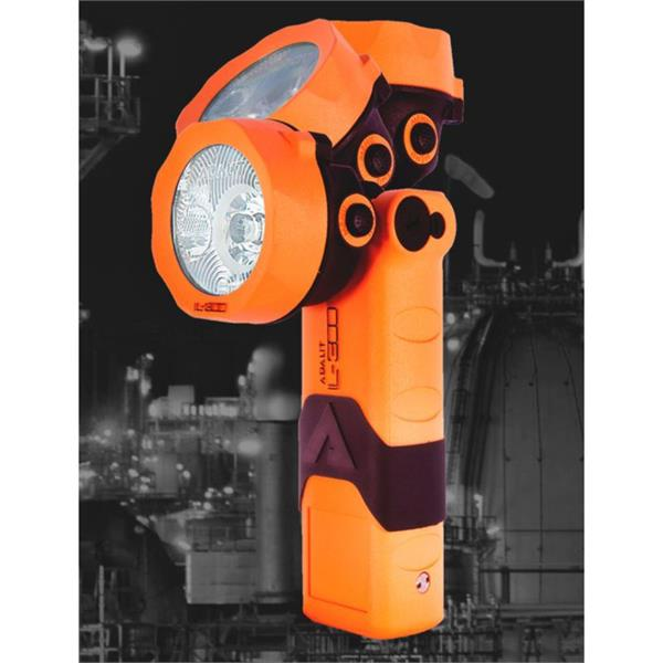 IL300 Adalit IL.300 Exia Led Safety Torch Adalit IL.300 IP67 Zone 1/21 Rechargeable model