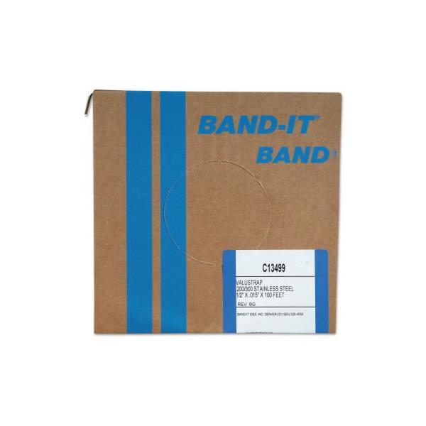 "C13499UK Band-It C13499 Valu-Strap Band SS 1/2"" x 0.015"" x 100' in SS-201  (Band in 30,5 m/coil)"